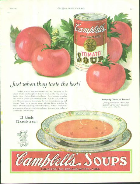 Campbell's Soup Ad.