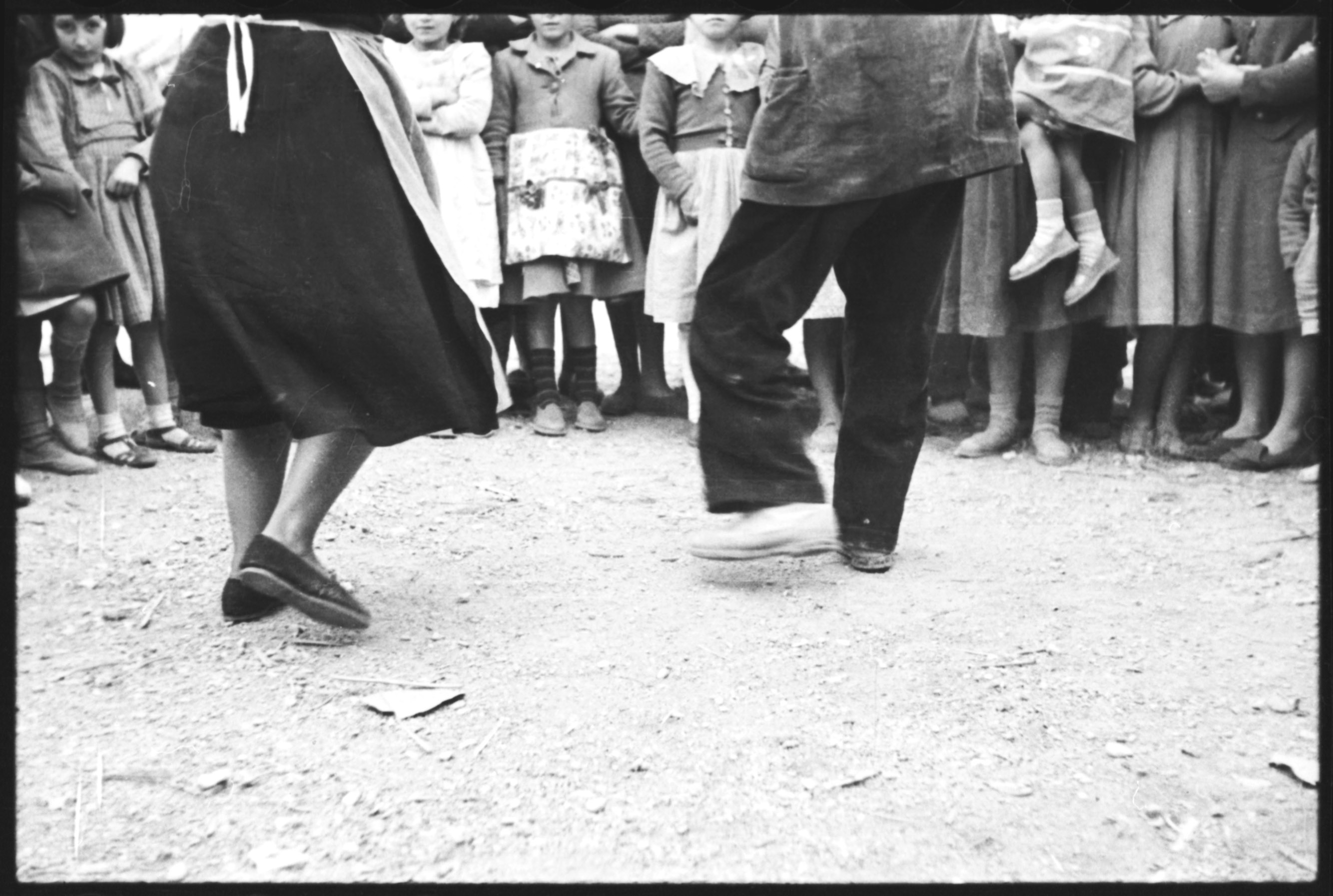 """Sevillana dancers in town square,"" From the Alan Lomax Collection at the American Folklife Center, Library of Congress. Used courtesy of the Association for Cultural Equity."