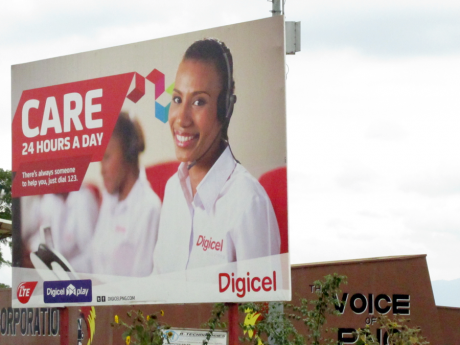 Digicel billboard in Goroka, Eastern Highlands Province, Papua New Guinea, 2015. Photo by M. Boie