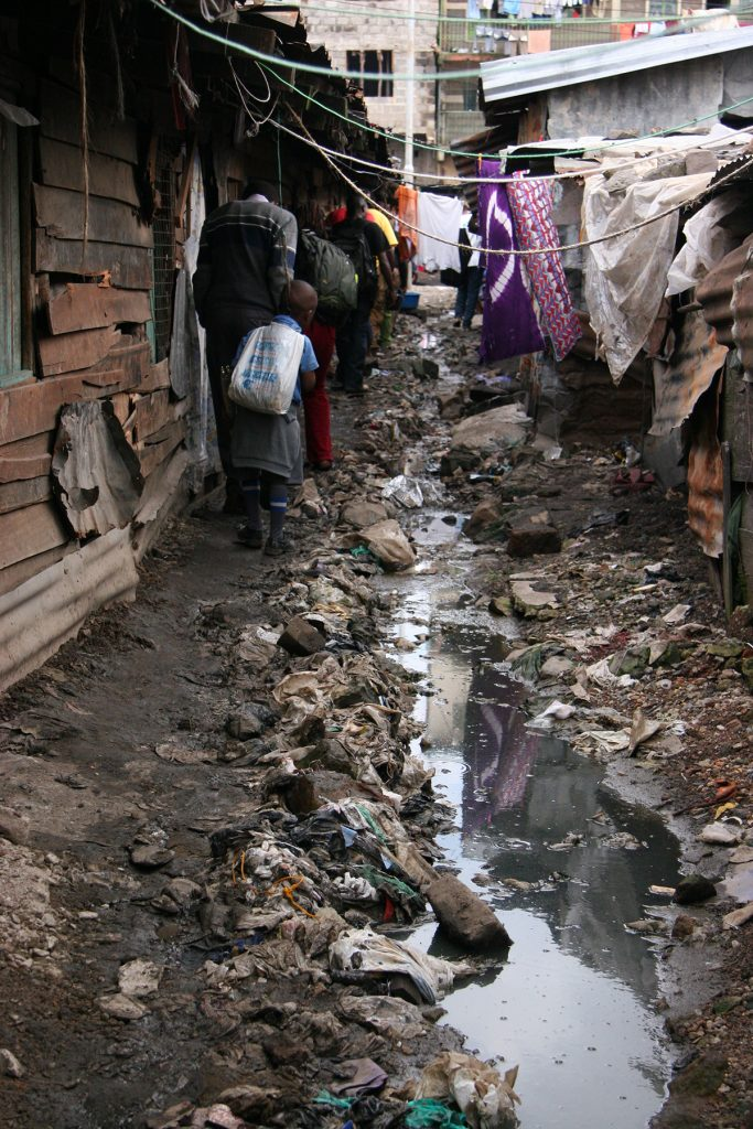 Mathare alley way between houses, 2010. Photo by: Claudia Pursals