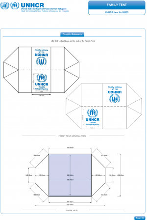 The UNHCR Standard Family Tent.