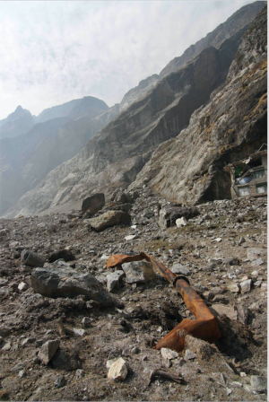 Figure 5. The remains of the Langtang micro-hydropower project (Austin Lord).