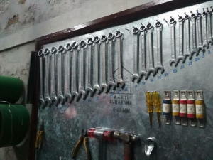 Figure 12. Tools and fuses hanging in the project powerhouse. A locally managed account has been created to fund any necessary maintenance or repairs that might be needed in the future (Seraph Tamang).