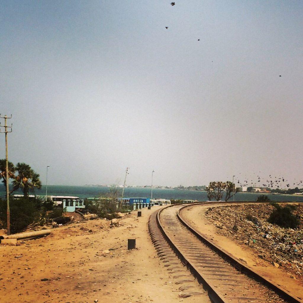 19th century Chemin de Fer Franco-Éthiopien (CFE) railway line in Djibouti City.