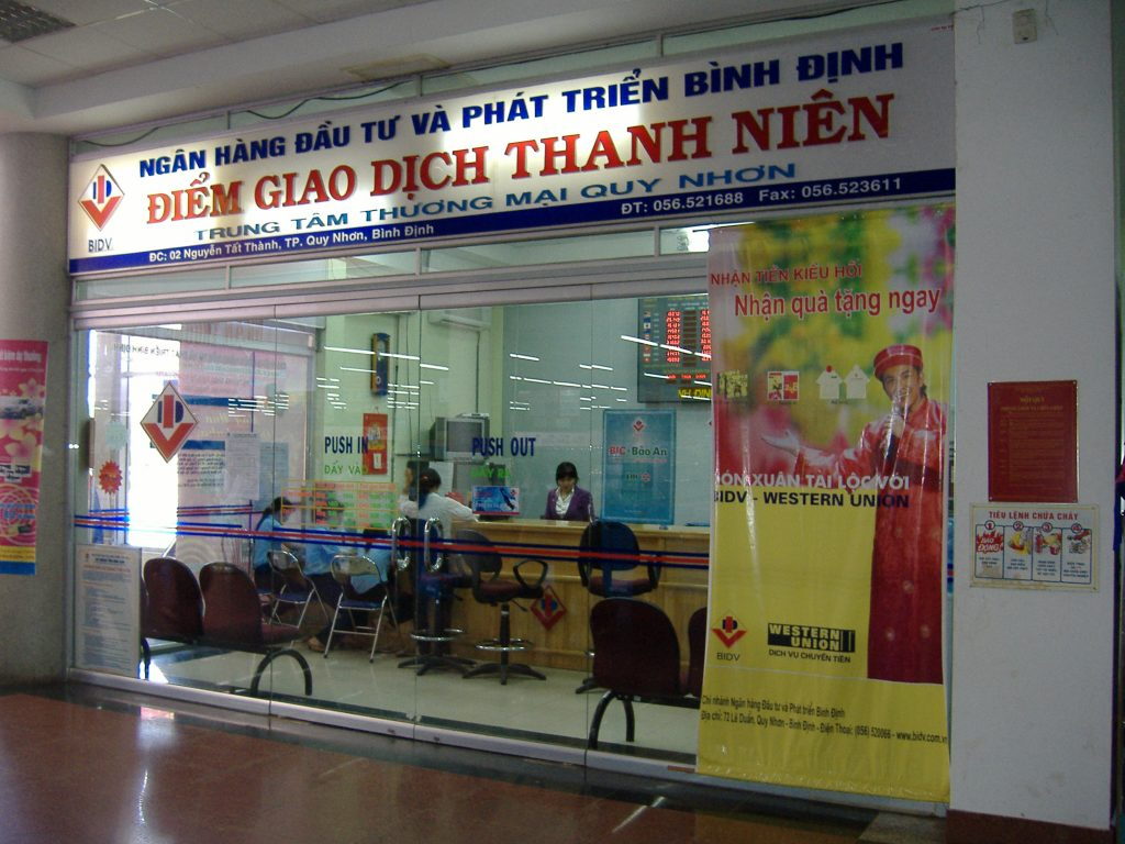 Money transfer and banking remittance marketing incentives, Vietnam.