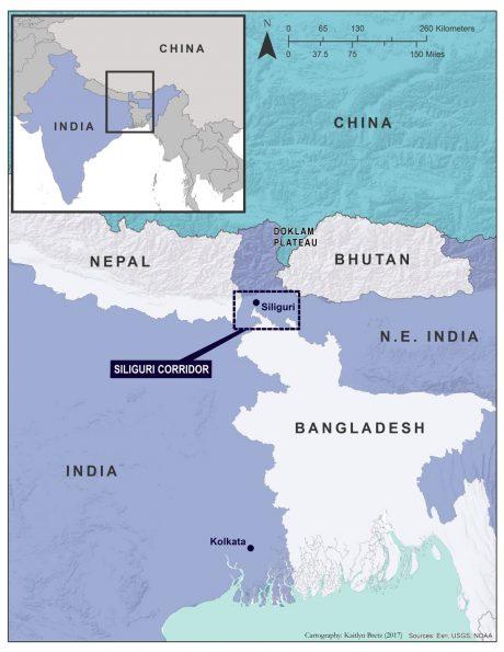 India's Siliguri Corridor.