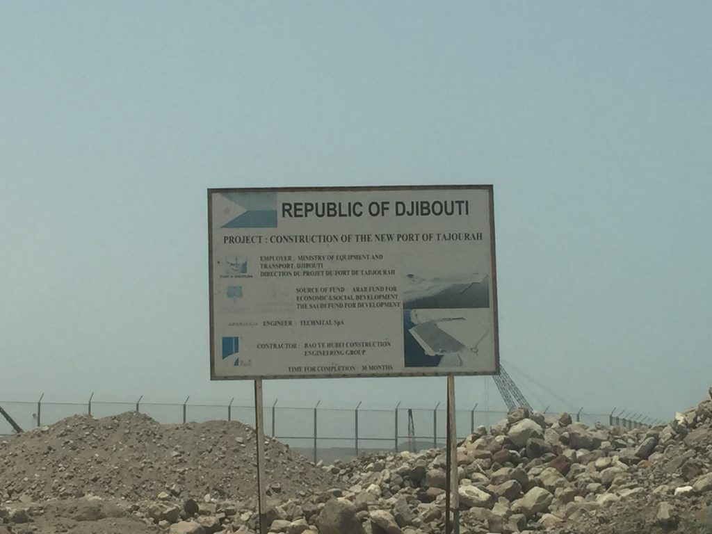 Tadjourah port construction in Northern Djibouti.