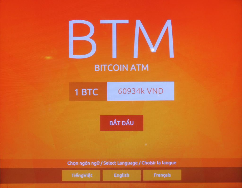 A Bitcoin ATM in Ho Chi Minh City, 2017. Blockchain technologies offer a potential remittance channel that may circumnavigate regulatory chokepoints, for now.