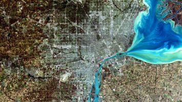 Detroit via Landsat.