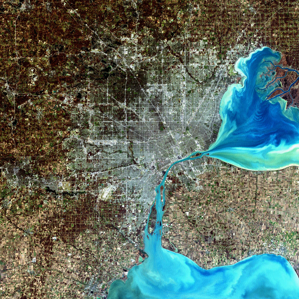 Detroit via Landsat.